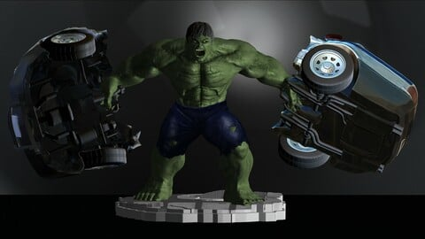 Hulk From Movie The Incredible Hulk 2008 with Edward Norton File STL 3D Print Model Two Versions