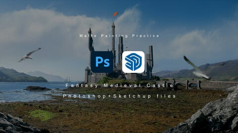 PSD file for Fantasy Medieval Castle