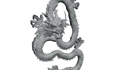 Ancient Capital Architecture - Stone Carving - Dragon