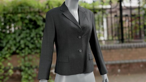 Realistic 3D model of Womesn Blazer 2