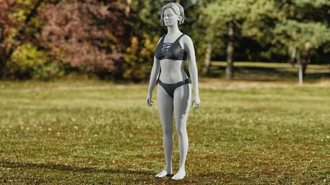 Realistic 3D model of Lingerie 1