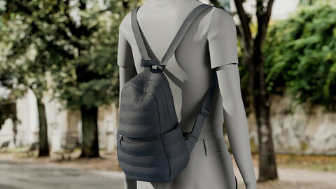 Realistic 3D model of Womens Backpack 7