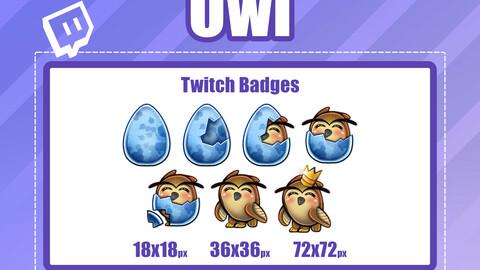 7x OWL TWITCH Sub Badges