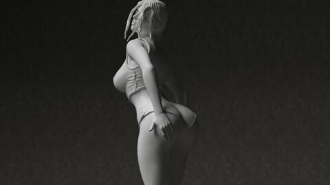 Woman figure 3d printable