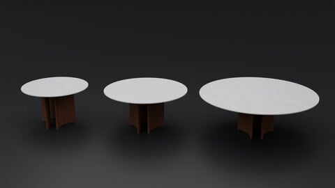 Alan Tondo 3 Gambe C Dining Table by Porada