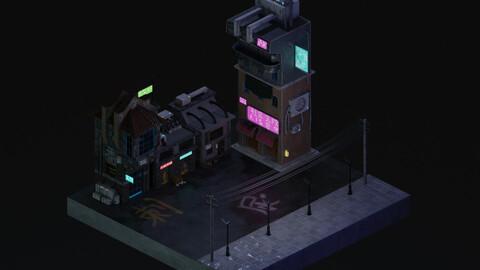 Cyberpunk Street 2 3D Model