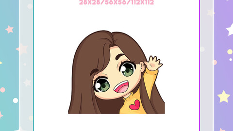 Chibi Girl Emote - Custom Twitch