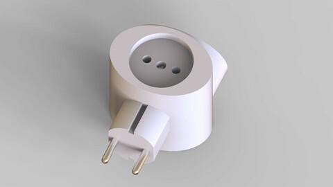 triple plug socket adapter
