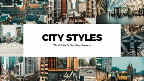 20 City Styles LUTs and Lightroom Presets