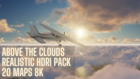 HDRI Pack Above The Clouds 20 maps 8k ( Time limited  Launch Promo -50% off)