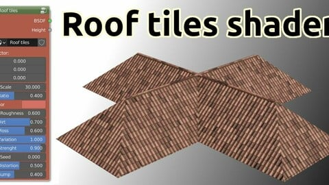 Roof tiles shader for Blender