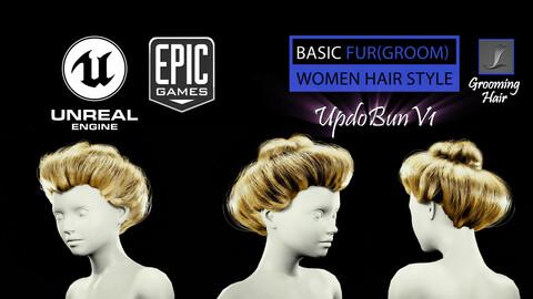 UpdoBunV1 Styles (Groom) For UE4