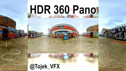 HDR 360 Panorama DTLA Graffiti Alley Cloudy 049 (Set pano 5 of 6)