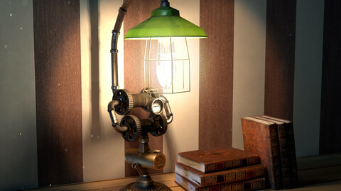 SteamPunk Light Version02 for unity and vray