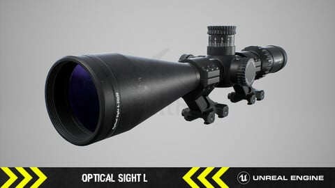 Optical Sight L - FPS Weapon Attachment [ Unreal Engine ]