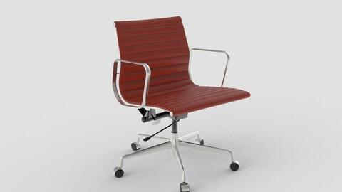 Vitra Aluminium Chair 117 Oxblood Red