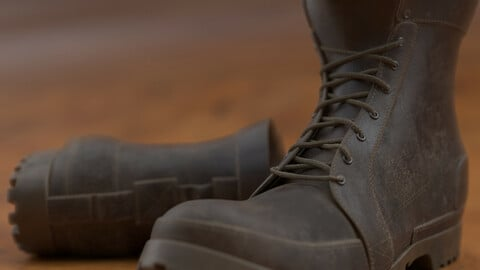 3D Model Boots OBJ + Textures