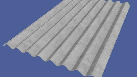 Slate Roof 1130x1750mm 8 Waves