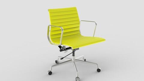 Vitra Aluminium Chair 117 Yellow