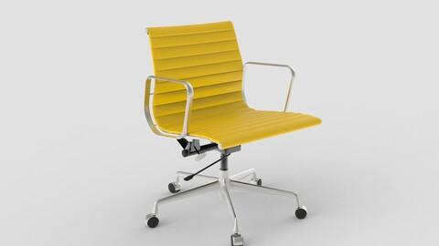 Vitra Aluminium Chair 117 Yellow Oxide