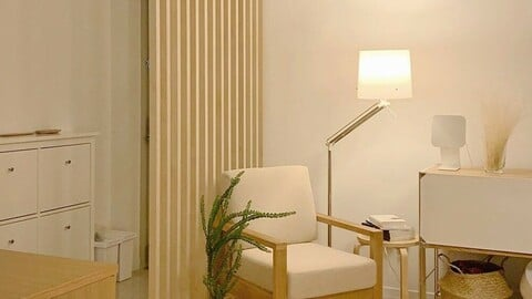 Wall interior stripe partition 4 size