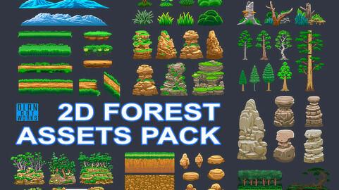 2D Forest Assets Pack ver.2