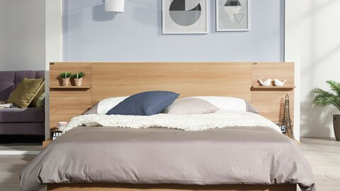 Simple Line Head Shelf Bed 3colors (SSQK)