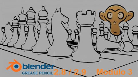 Blender 2.8x-2.9x per tutti - Grease Pencil - Modulo 3 (italiano)