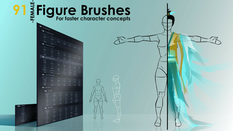 Figure Brushes - FEMALE - For Faster Character Concepts