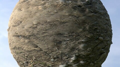 Dirt And Gravel PBR Material