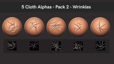 5 Cloth Alphas - Pack 2 - Wrinkles (free)