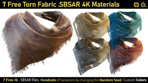 7 Free Torn Fabric Materials