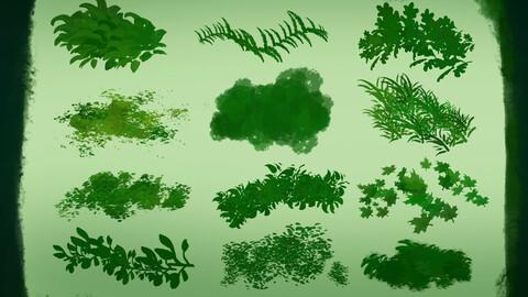 Aantlers' Foliage Brushes