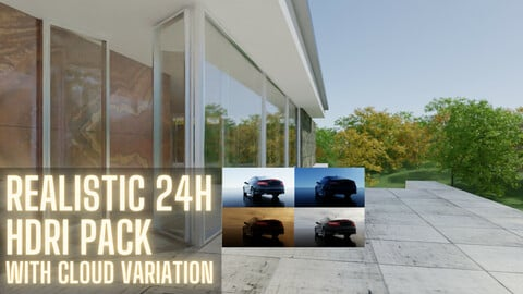 HDRI Realistic Time of Day Pack 4K  with 20 maps (-50%  Exclusive Sale)