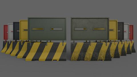 PBR Concrete Roadblock Barrier V2