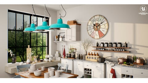 Kitchen Interior - UE4 | FBX