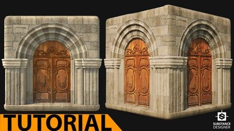Medieval stone porch - 2 hours narrated, step-by-step video tutorial