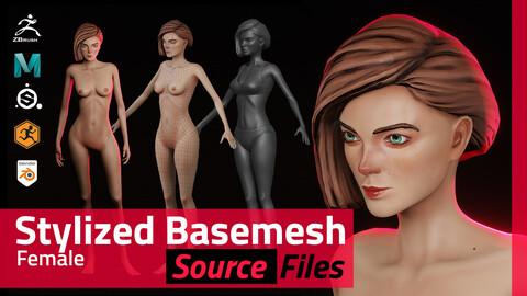 Stylized Female Basemesh - Source Bundle