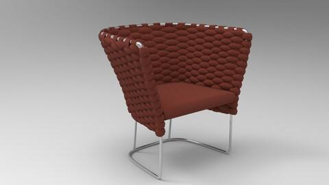 Paola Lenti Ami Chair Dark Red