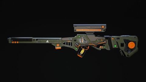Zyphon Rifle Scifi Game Ready