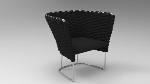 Paola Lenti Ami Chair Onyx Black