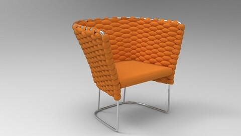 Paola Lenti Ami Chair orange