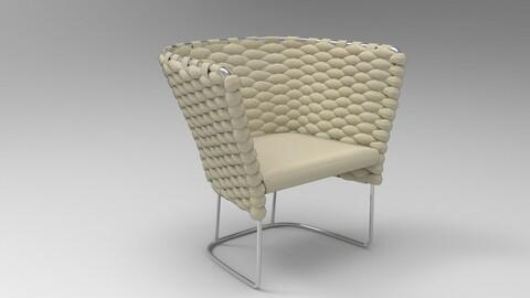 Paola Lenti Ami Chair Oyster