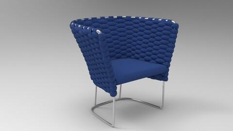 Paola Lenti Ami Chair Royal blue
