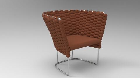 Paola Lenti Ami Chair Rust