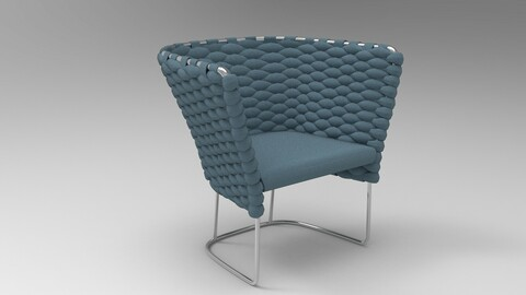 Paola Lenti Ami Chair Wedgewood Blue