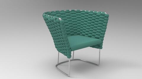 Paola Lenti Ami Chair Turquoise