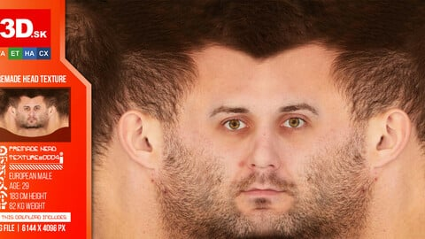 Male Premade Head Texture 0004