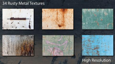 34 Rusty Metal Paint Textures