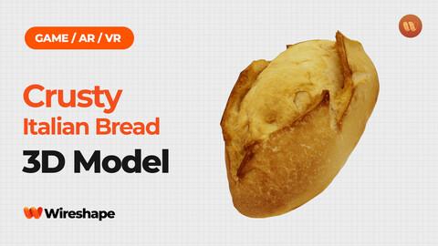 Crusty Italian Bread - Real-Time 3D Scanned